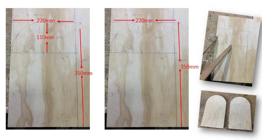 sizes of wooden mailbox side panels