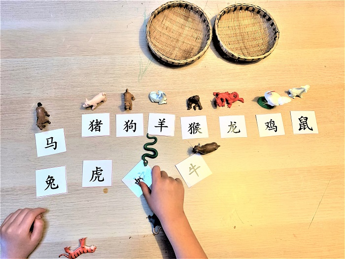 chinese zodiac animal flashcards in chinese for kids